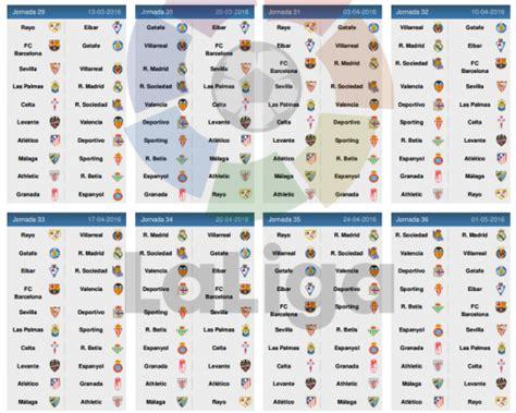 Calendrier Liga Le Calendrier De La Liga Bbva 2015 2016