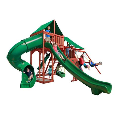 how much are swing sets gorilla playsets double down playset 01 0036 the home depot