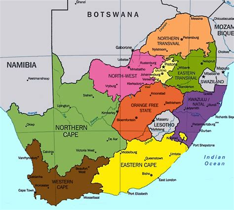 province map south africa maps