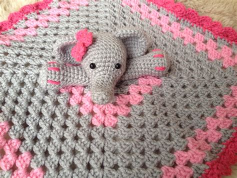 crochet pattern elephant baby blanket crochet elephant lovey security blanket baby shower gift