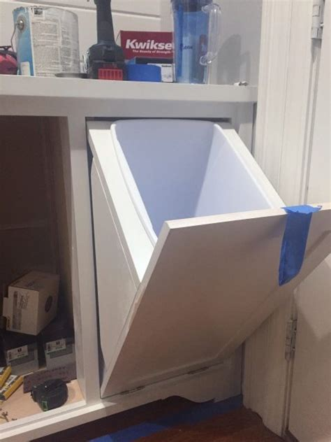 tilt out storage cabinet building a tilt out storage cabinet day 9 sawdust 174