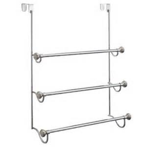 the door shower rack interdesign york metal shower door 3 bar towel rack