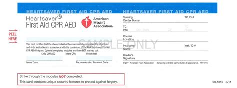 american association heartsaver cpr card template cpr card template listmachinepro