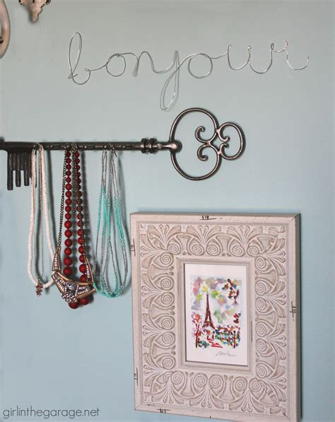 diy jewelry wall display in the garage 174
