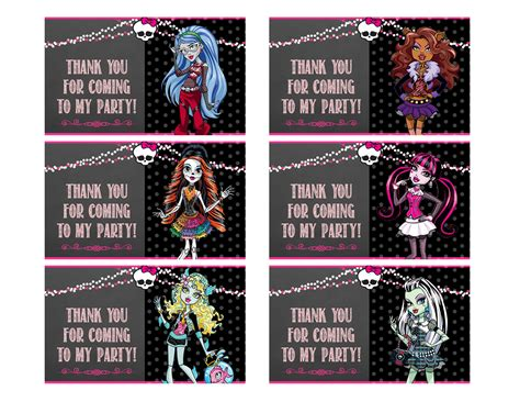 monster high printable id cards free printable cards blogger auto design tech