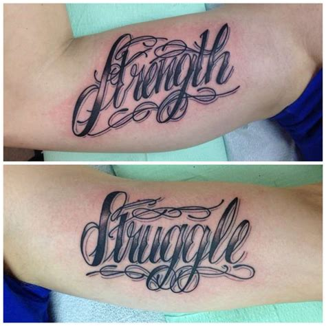 krueger letters lettering script sayings struggle strength