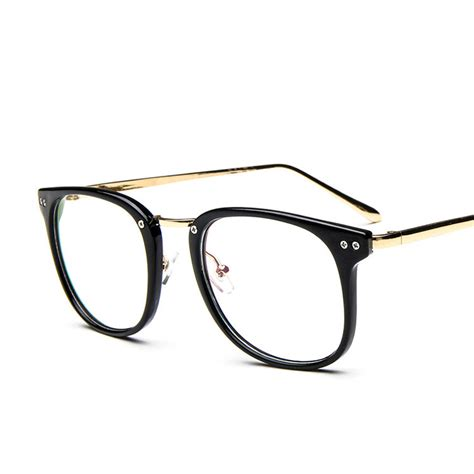 2015 rivets big frame clear lens fashion glasses