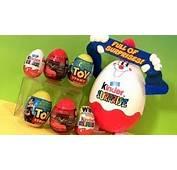 Huge Kinder Surprise Eggs Disney Pixar CARS 2 &amp Toy Story