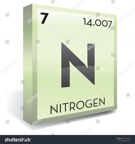 Nitrogen On The Periodic Table by Nitrogen Element Periodic Table Stock Vector Illustration