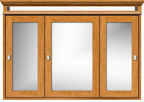 Strasser Tri View Medicine Cabinet with Inset Style Doors