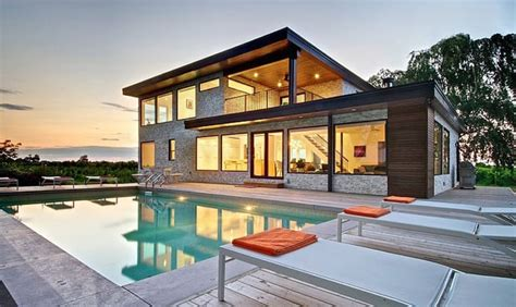 Modern Home Design Ontario | modern house with electric spots of color ontario canada
