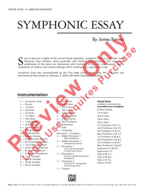 Dramatic Essay by Sheet Dramatic Essay String Orchestra