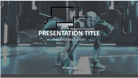 ppt templates for robotics free download free robot powerpoint template 7657 sagefox powerpoint