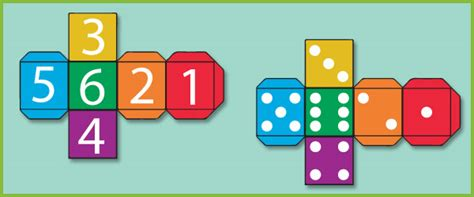 printable dice set dice templates free early years primary teaching