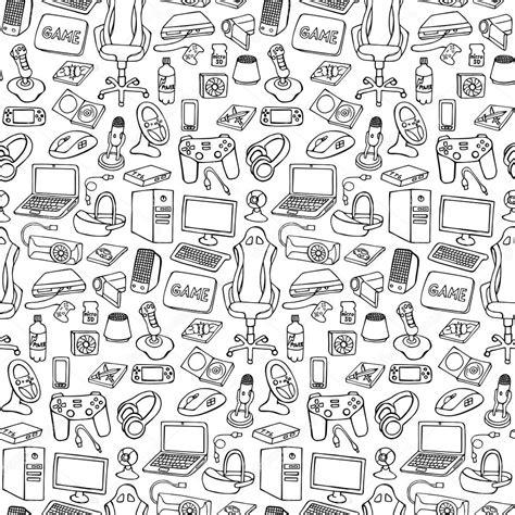 download pattern games gamer doodle seamless pattern stock vector 169 kronalux