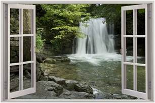 waterfall wall mural huge 3d window view waterfall wall sticker film mural art