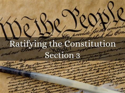 section 3 constitution ratifying the constitution by jaileigh norman