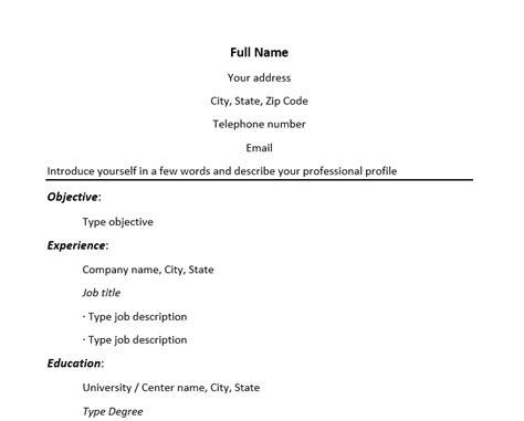 Modelo Curriculum Australia Resume Template En Ingl 233 S Plantillas De Resume En Ingl 233 S Modelo Curriculum
