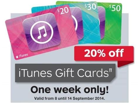 Buy Itunes Gift Card Australia - expired 20 off itunes gift cards at australia post this week gift cards on sale