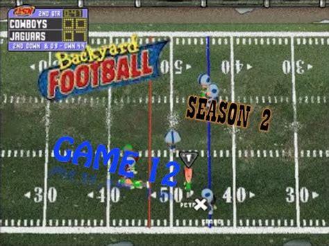 backyard football 1999 download pc backyard football 1999 pc season 2 game 12 sunny