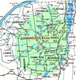 Adirondack State Park Map by Directory Of Adirondack Counties