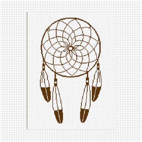 design a dream catcher dreamcatcher feathers crochet pattern graph afghan pdf