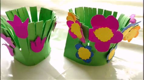 Childrens Paper Crafts - easy paper craft flower garden for paper
