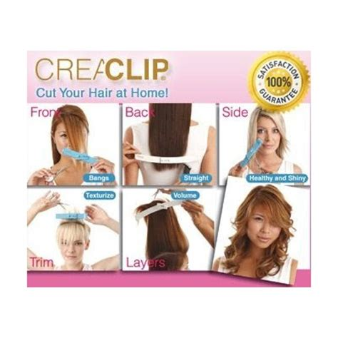 How To Trim Hair At Home by Andeline S The Magical Creaclip Tool Dvd Up For