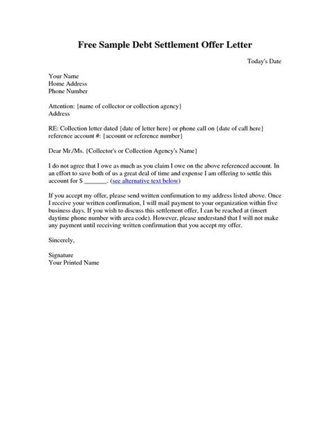 Loan Settlement Letter Format 30 best letter exle images on cover letter