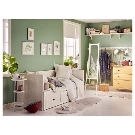 Dipan Ikea hemnes day bed frame with 3 drawers white 80x200 cm ikea