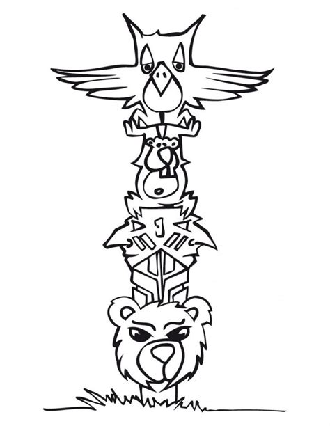 coloring pages totem animals free coloring pages of animal totem poles