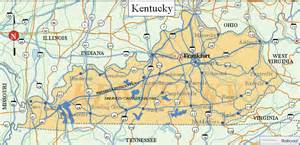 State Of Kentucky Map by Kentucky Sights