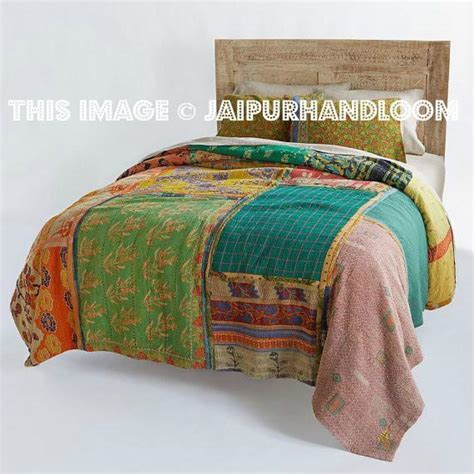 Vintage Patchwork Bedding - vintage kantha patchwork quilt blanket throw bedding