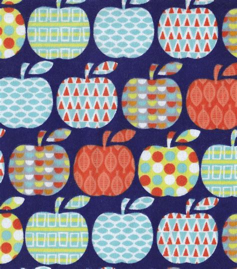 pattern for fabric apple snuggle flannel fabric pattern apples jo ann