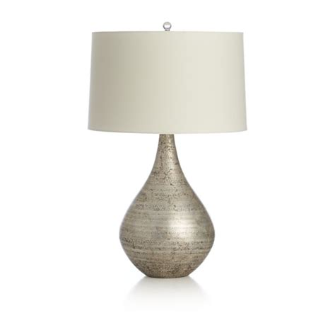 Silver Base Table Lamps by Mulino Table Lamp Crate And Barrel