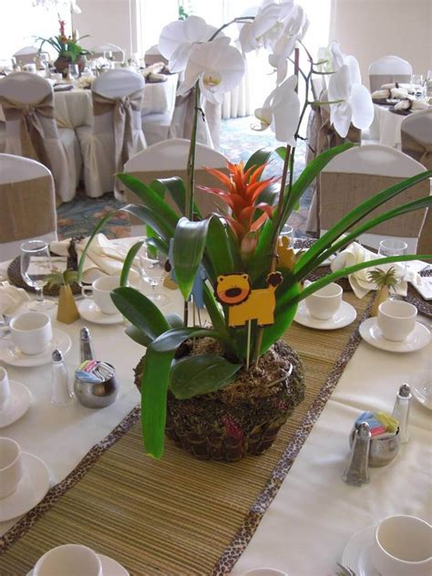 Safari Centerpieces For Baby Shower by Safari Baby Shower Orchid Centerpiece Orchids