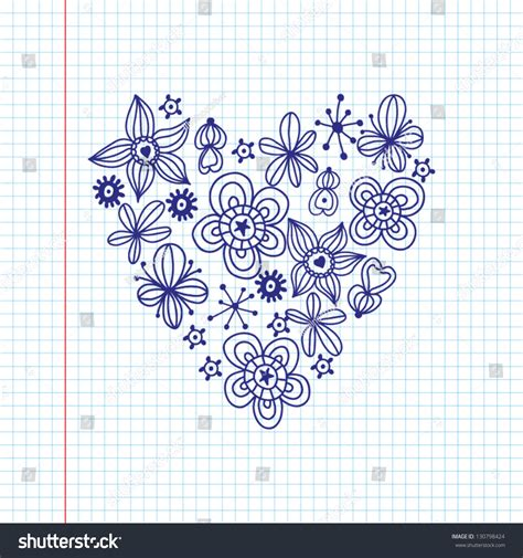 love shape pattern vector romantic sketch wallpaper flowers floral heart stock