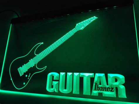 Neon Sign Home Decor Lf087 Guitar Ibanez Led Neon Light Sign Home Decor Crafts In Plaques Signs From Home