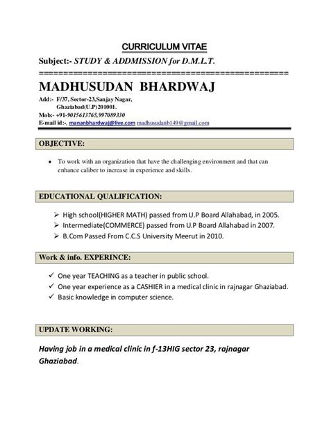 resume format for teachers in india indian student resume format for sle top resume