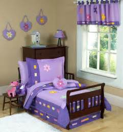purple daisies toddler comforter bedding 5pc bed in a