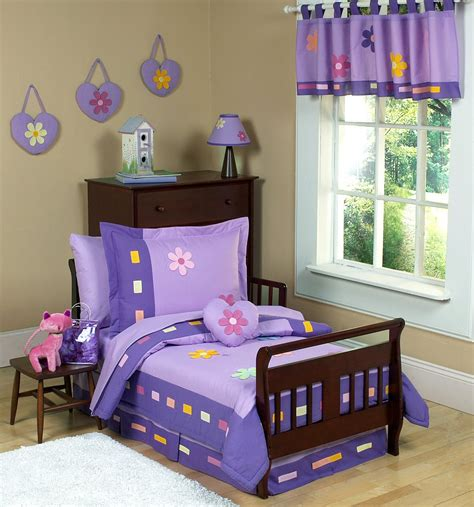 toddler comforter set purple daisies toddler girl comforter bedding 5pc bed in a