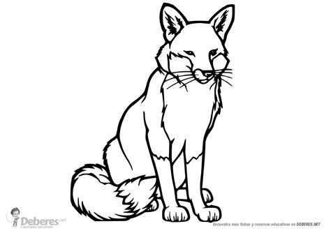 imagenes para colorear lobo lobo sentado para colorear