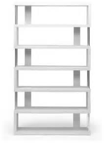 White Modern Bookshelves Baxton Studio Barnes White Six Shelf Modern Bookcase