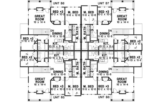 20 bedroom house plans traditional style house plans 9402 square foot home 2 story 20 bedroom and 20