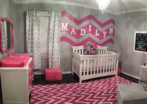 pink chevron bedroom gray white and hot pink chevron nursery project nursery