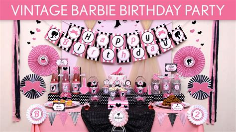 vintage barbie birthday party ideas vintage barbie