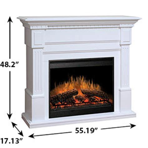White Electric Fireplace Canada by Dimplex Sussex Electric Fireplace Mantel Package In White