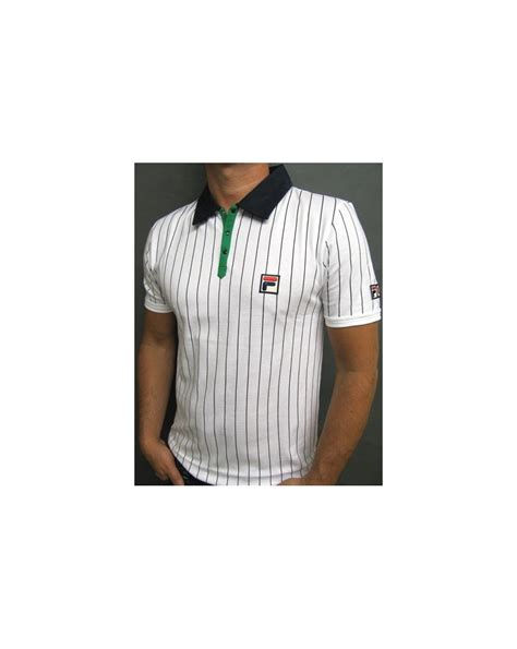 Poloshirt Fila Bb Vintage 80s Fila Vintage Mk1 Settanta Polo Shirt White Green Navy