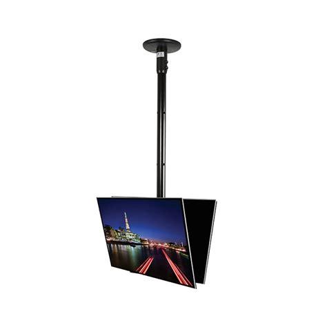 b tech back to back flat screen ceiling mount 0 75m pole