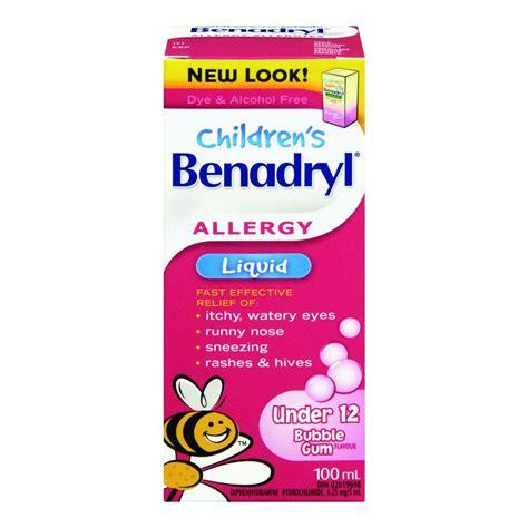 benadryl for allergies buy benadryl children s allergy liquid gum flavour 100 ml from value valet